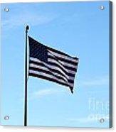 Old Usa Flag Acrylic Print