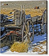 Old Wagon At Bodie Ghost Town Acrylic Print