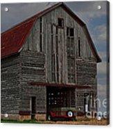 Old Wagon Older Barn Acrylic Print