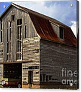 Old Wagon Older Barn Different View Acrylic Print
