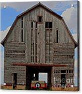 Old Wagon Older Barn Panoramic Stitch Acrylic Print