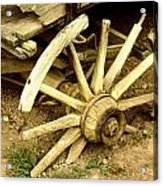 Old Wagon Wheel Acrylic Print by Susie Weaver
