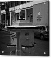 Old Water Fountain In Front Of Old Larnaca Hospital Larnaka Republic Of Cyprus Europe Acrylic Print