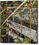Old Weathered Gate Photoart II Acrylic Print
