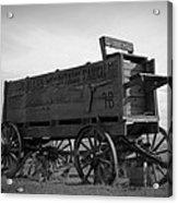 Old West Wagon Acrylic Print