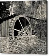 Old West Water Mill 3 Acrylic Print by Darcy Michaelchuk
