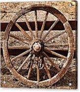 Old West Wheel Acrylic Print by Kelley King