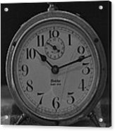 Old Westclock In Black And White Acrylic Print