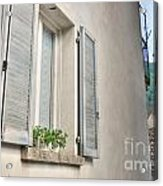 Old Window With Shutter Acrylic Print