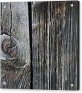 Old Wood On A Barn Iron Hill, Quebec Acrylic Print