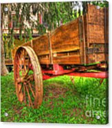 Old Wooden Cart Acrylic Print