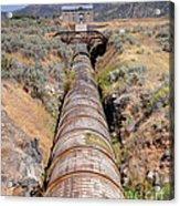 Old Wooden Water Pipeline - Rural Idaho Acrylic Print