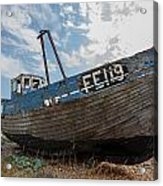 Old Wrecked Fishing Boat Acrylic Print