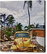 Old Yellow Truck Florida Acrylic Print