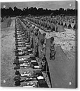 Oldiers Stand By For Inspection Acrylic Print