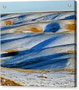 Oldman River Valley In Winter Acrylic Print