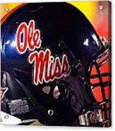Ole Miss Football Helmet Acrylic Print