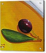 Olive In Olive Oil Acrylic Print