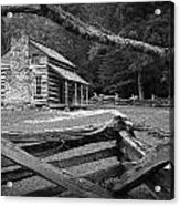 Oliver's Cabin In The Great Smokey Mountains Acrylic Print