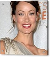 Olivia Wilde In The Press Room Acrylic Print by Everett