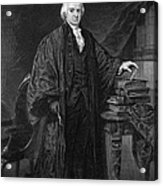 Olvier Ellsworth (1745-1807). Chief Justice Of The United States Supreme Court, 1796-1799. Steel Engraving, 1863 Acrylic Print
