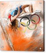 Olympics High Jump Gold Medal Ivan Ukhov Acrylic Print