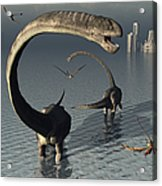 Omeisaurus Sauropod Dinosaurs Cooling Acrylic Print