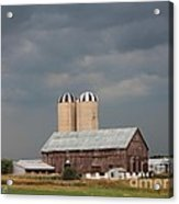 Ominous Clouds Over The Barn Acrylic Print by J McCombie