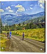On A Country Road Acrylic Print