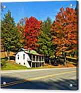 On A West Virginia Road Painted Acrylic Print