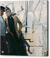 On Deck Acrylic Print by Louis Anet Sabatier