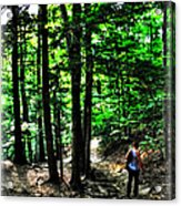 On Our Way Chasing The Eternal Flame At Chestnut Ridge Park Acrylic Print