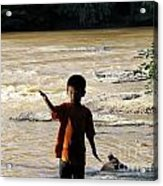 On The Bank Of The River Acrylic Print