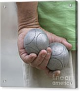 On The Boules Pitch Acrylic Print