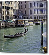 On The Canal In Venice Acrylic Print