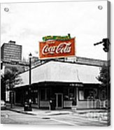 On The Corner Acrylic Print by Scott Pellegrin