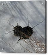 On The River. Heart In Ice 03 Acrylic Print