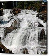 On The Rocks Glen Alpine Falls Acrylic Print