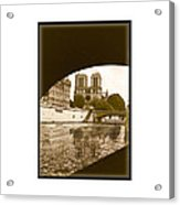 On The Seine - Paris Acrylic Print