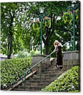 On The Steps Of History Acrylic Print by Karen Kennedy