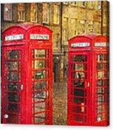 On The Streets Of Edinburgh  Acrylic Print