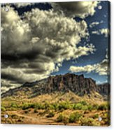 On The Superstitions  Acrylic Print