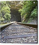 On The Tracks Acrylic Print