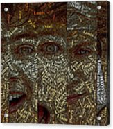 One Direction Faces Mosaic Acrylic Print