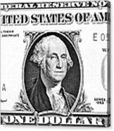 One Dollar Bill Acrylic Print