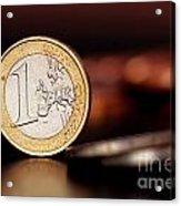 One Euro Coin Acrylic Print