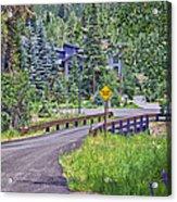 One Lane Bridge - Vail Acrylic Print