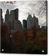 One Light On In Central Park Acrylic Print