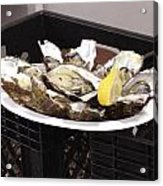 One Of The Best Luxurious Dishes Of Oysters Ive Ever Had Acrylic Print
