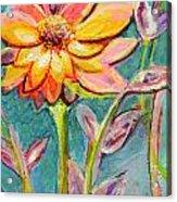 One Pink Flower Acrylic Print